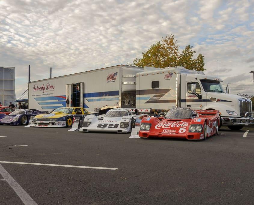 intercity lines race car transportation