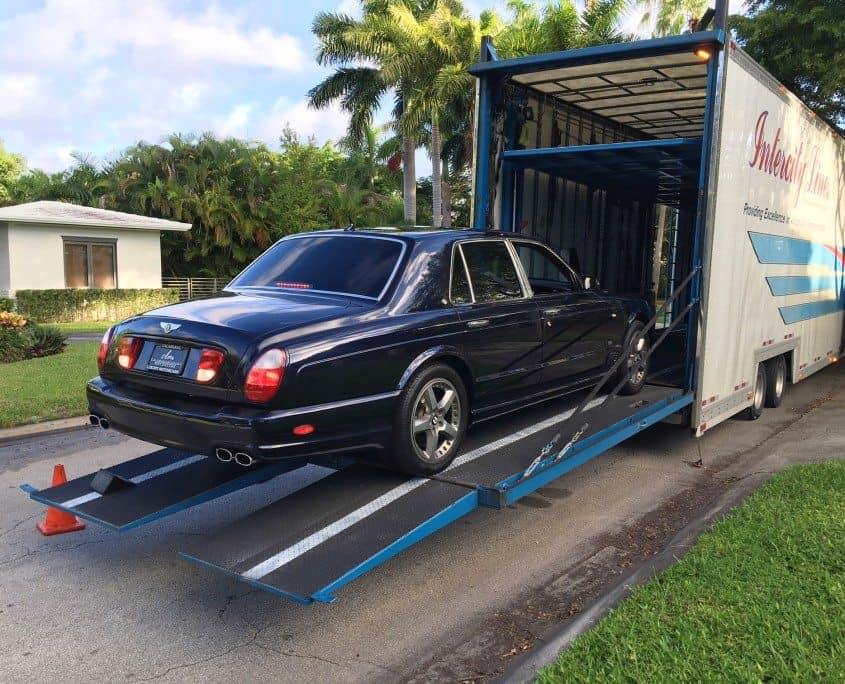 shipping a luxury car