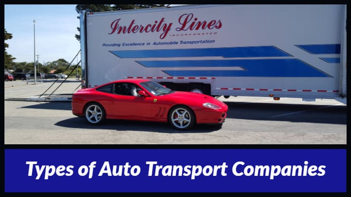 types of auto transportation companies