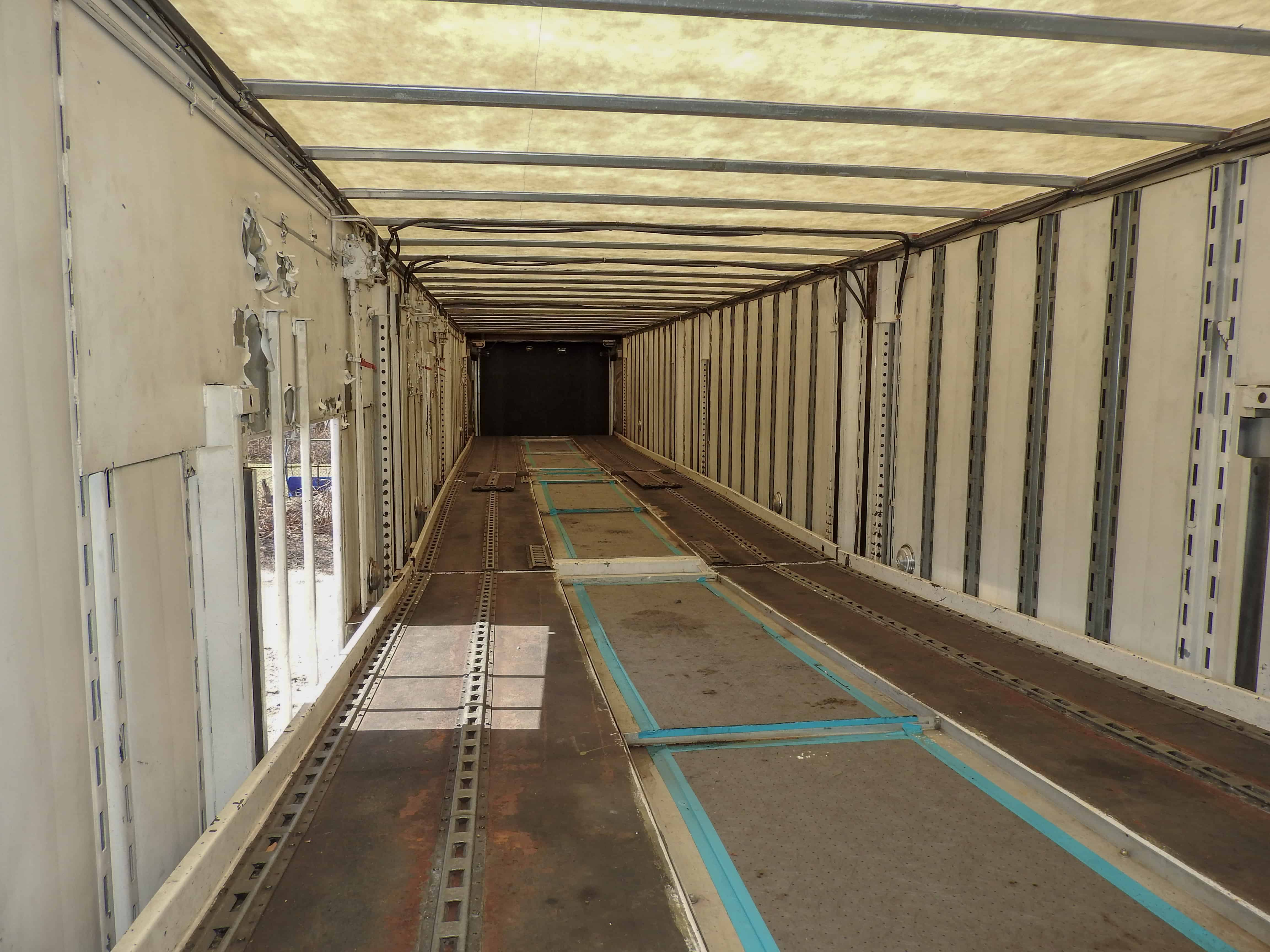 Inside of Gently Used Enclosed Car Trailer for Sale