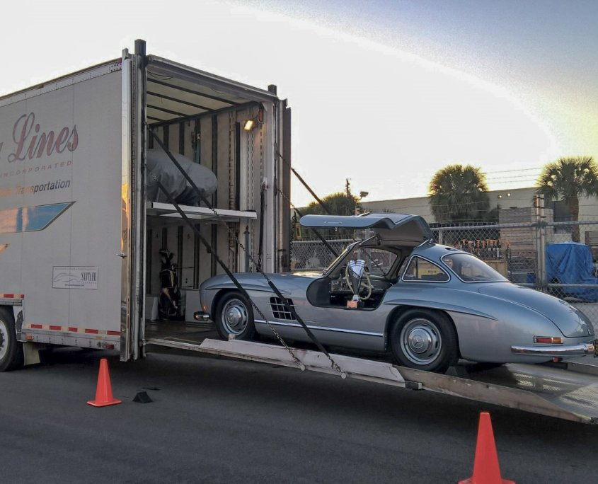 transporting a classic car