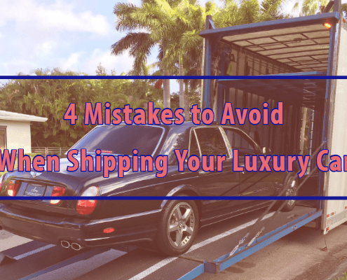 4 mistakes to avoid when shipping your luxury car